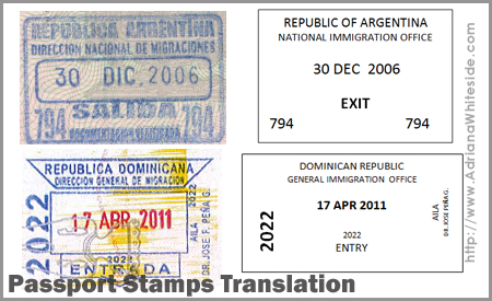 Passport Stamps Translation
