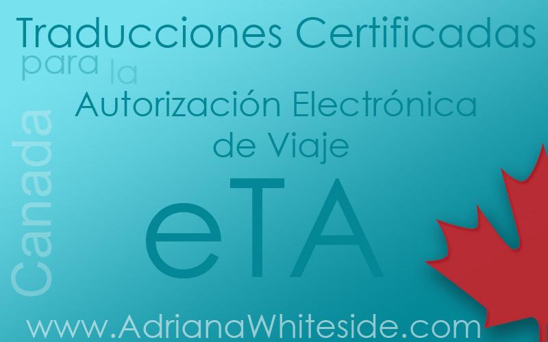 Traducciones Certificadas Para La Autorización Electrónica De Viaje  (eTA)