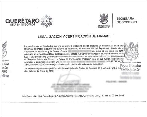 Legalizacion de Firma - Mexico - Toronto