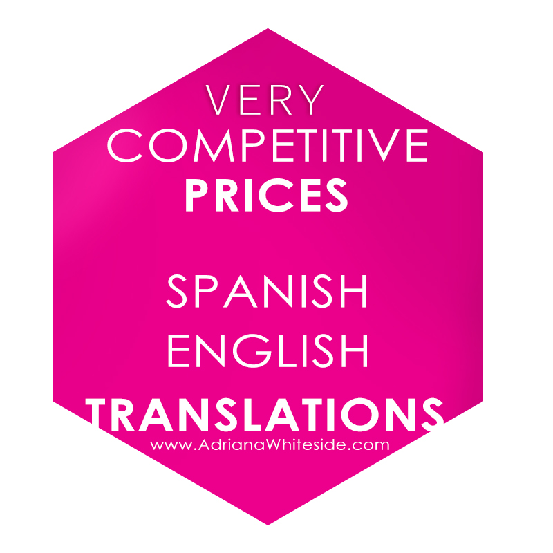 Spanish Translations prices and rates in Toronto