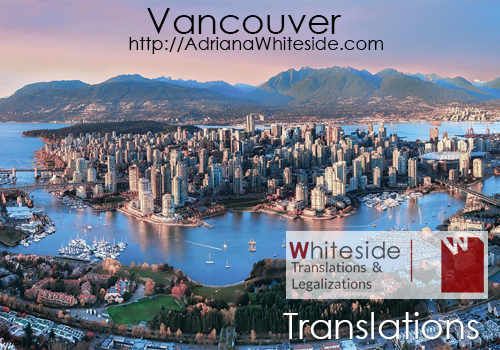 Spanish translations Vancouver, British Columbia - Certified