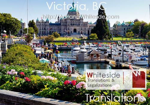 Spanish translations - Victoria BC - CERTIFIED