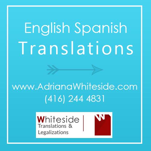 Spanish Translations Toronto