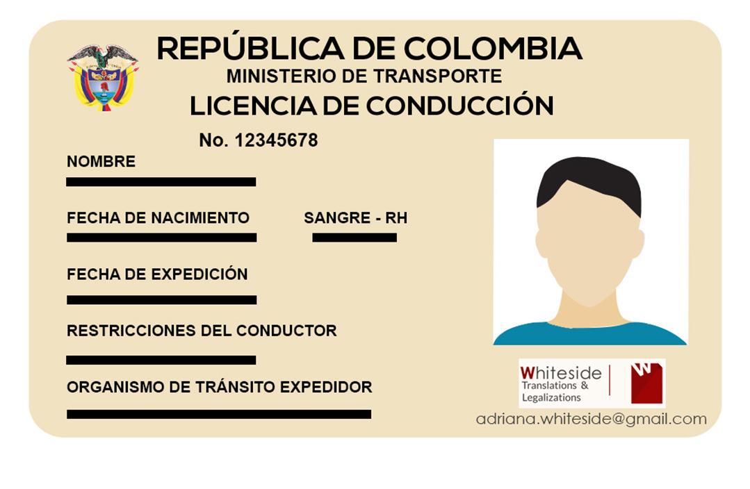Traducción Oficial de Licencia