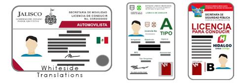 Traducción De Licencias De Conducir