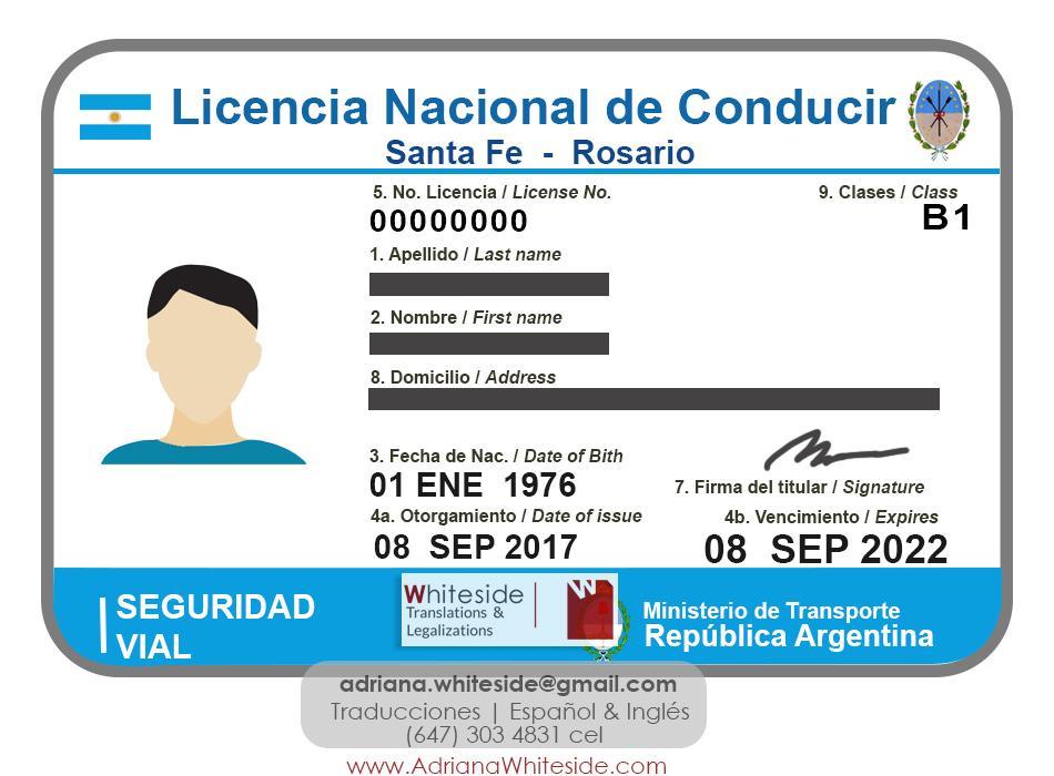 Licencia de Conducir de Argentina
