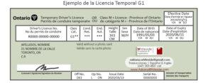Licencia Temporal G1 - Toronto