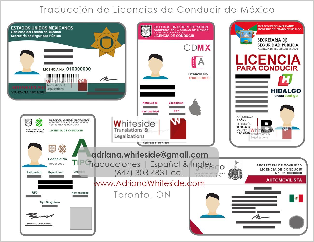 Traducción de Licencia de Conducir de México