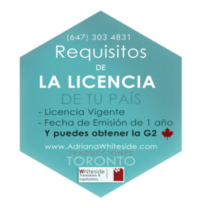 Requisitos para obtener la G2 en Toronto