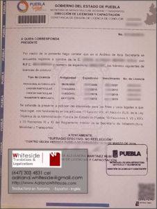 Historial de Manejo de Puebla, México