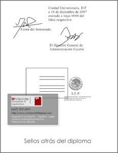 Diploma para WES - SELLOS