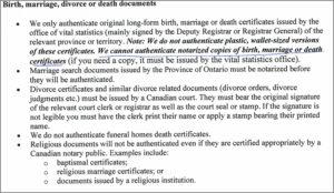 Global Affairs Birth Certificate