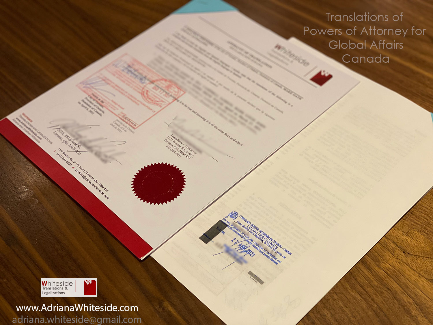 Power of Attorney translation for Global Affairs