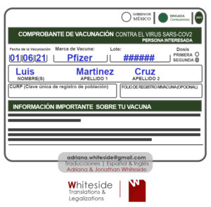 Certified Translation for Vaccination covid-19